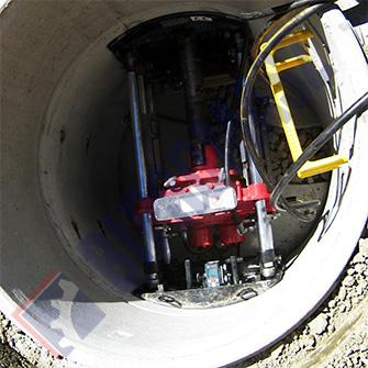 WPS-20S – wiertnica pozioma sterowana - max średnica wiercenia Ø200 na długość max 15 m ze studni Ø1000 mm