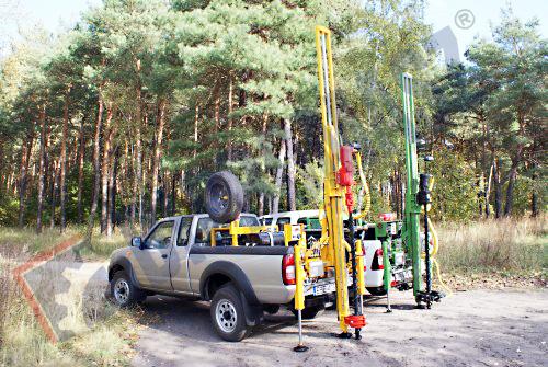 H16S – wiertnica geologiczna na samochodzie terenowym