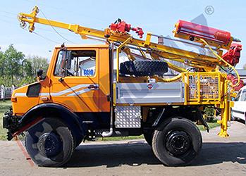 H25S - wiertnica geotechniczna na samochodzie ciężarowym