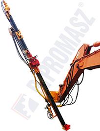 Osprzęt wiertniczy koparkowy do pali iniekcyjnych OKM-100